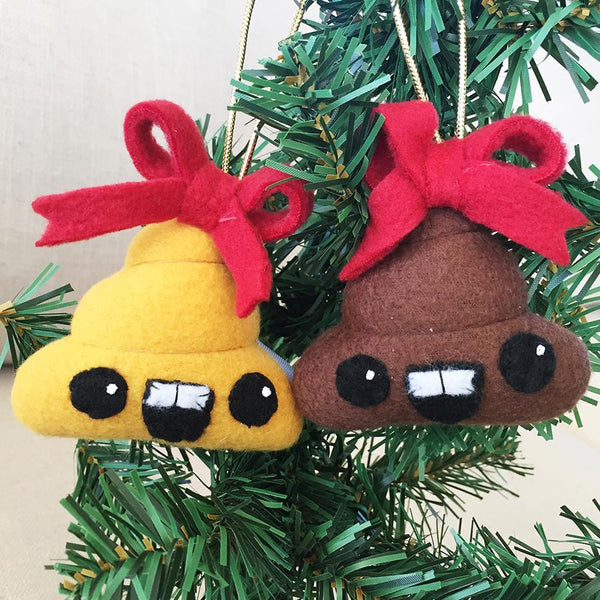 "Holiday Dingleberries 3"" Plush Ornament (pack of 3) - I Heart Poop Culture - Furry Feline Creatives"