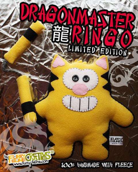 Handmade Dragon Master Ringo (Limited Edition) - Purridge & Friends - Furry Feline Creatives