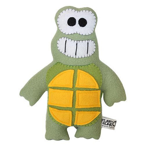 "Handmade Dude the Turtle Plush 12"" Classic - Purridge & Friends - Furry Feline Creatives"