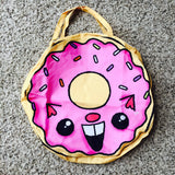 "Giant Round Zipper ""Donut Cat"" Tote - Purridge & Friends - Furry Feline Creatives"