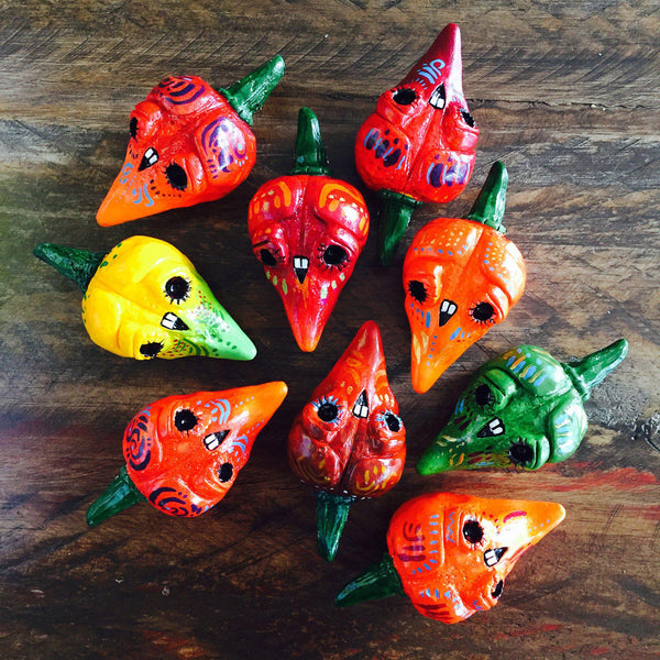 Chiles De Los Muertos Resin Figures - Purridge & Friends - Furry Feline Creatives