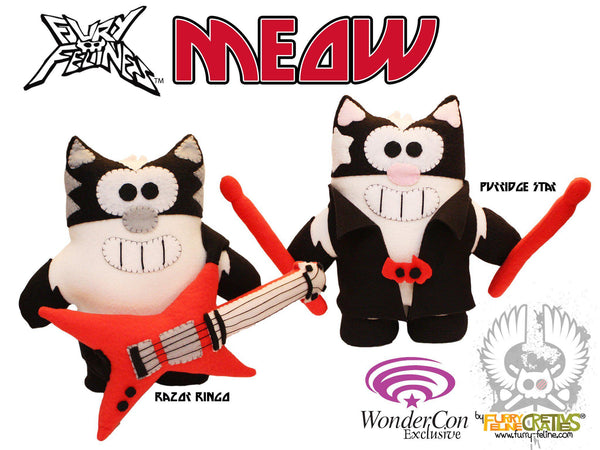 Handmade Fury Felines MEOW Set (Limited Edition) - Purridge & Friends - Furry Feline Creatives