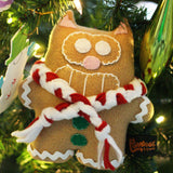 "Handmade Peppermint Gingerbread Purridge 7"" Plush - Purridge & Friends - Furry Feline Creatives"