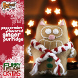 "Handmade Peppermint Flavored Ginger Purridge 7"" Plush - Purridge & Friends - Furry Feline Creatives"