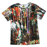 All-Over Print Gumwall Photollustration Cotton Tee - Furry Feline Creatives - Furry Feline Creatives