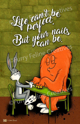 11x17 FFC x Chuck Jones - Hair-raising Hare Print - FFC x Chuck Jones - Furry Feline Creatives