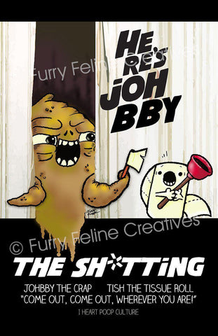11x17 Here's Johbby Print - I Heart Poop Culture - Furry Feline Creatives