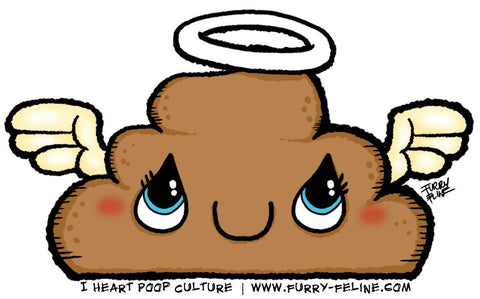 Holy Poop Reusable Sticker - I Heart Poop Culture - Furry Feline Creatives