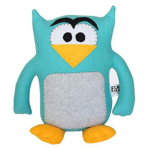 "Handmade Howie the Owl Plush 12"" Classic - Purridge & Friends - Furry Feline Creatives"