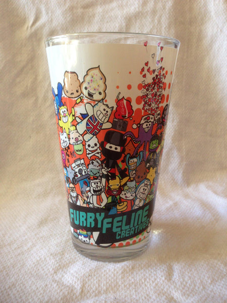 Furry Feline 16oz Sublimated Pint Glass - Furry Feline Creatives - Furry Feline Creatives