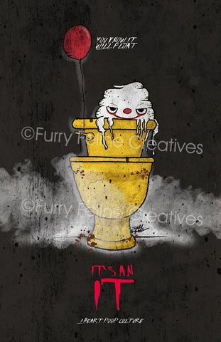 11x17 Its An IT Print - I Heart Poop Culture - Furry Feline Creatives