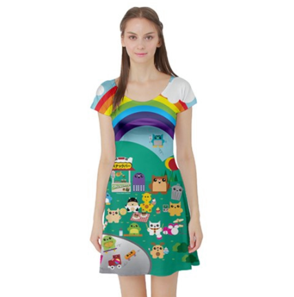 Purridge & Friends Kawaii Short sleeve Dress - Furry Feline Creatives - Furry Feline Creatives