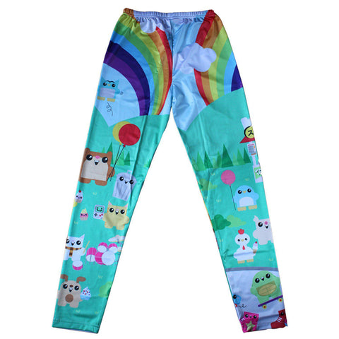 Purridge & Friends Kawaii Leggings - Furry Feline Creatives - Furry Feline Creatives