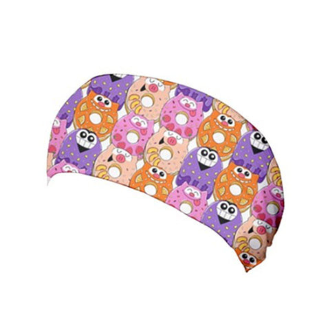 Go Kray Kray Over Doughnuts Pink/Peach Yoga Headband - Purridge & Friends - Furry Feline Creatives