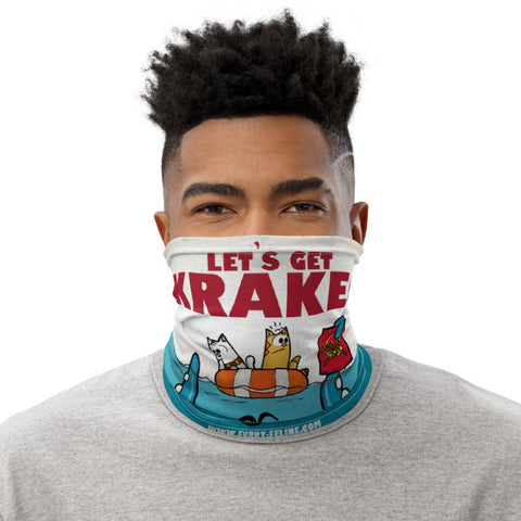 Let's Get Kraken Face Mask / Neck Gaiter - Furry Feline Creatives