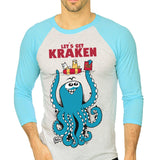 The Kraken Unisex Raglan Tee - Purridge & Friends - Furry Feline Creatives