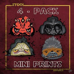 5x7 Stool Wars Sh*t Lords & Chewie The Dookie 4-pack Prints - I Heart Poop Culture - Furry Feline Creatives