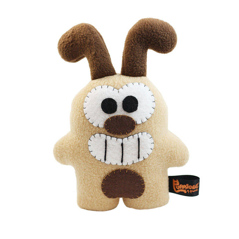 "Handmade Mini Bogie The Dog Plush 8.5"" Classic - Purridge & Friends - Furry Feline Creatives"