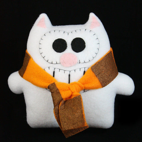 "Handmade Mini Purridge the Cat 7"" Plush - Purridge & Friends - Furry Feline Creatives"