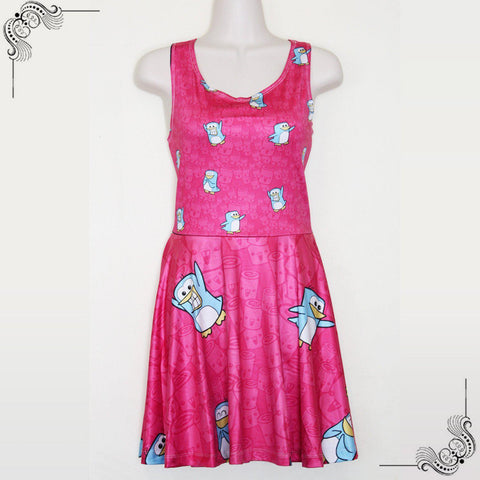Purridge & Friends Gwenn Hot Pink Skater Dress - Furry Feline Creatives - Furry Feline Creatives
