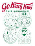Go Kray Kray Over Doughnuts Unisex Ringer Tee - Purridge & Friends - Furry Feline Creatives