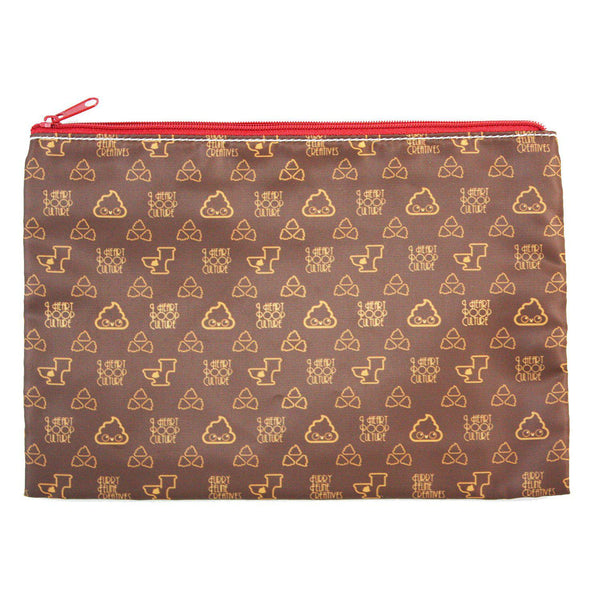Poopie Vuitton Cosmetic Pouches - I Heart Poop Culture - Furry Feline Creatives