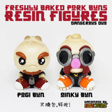 "Handmade Pogi Pork Bun  2.5"" Resin Figure - Furry Feline Creatives"
