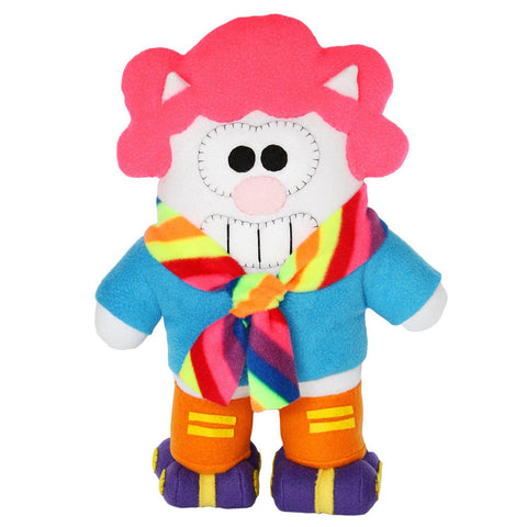 "Handmade Funky Felines Psychedelic Purridge 16"" Plush (Limited Edition) - Purridge & Friends - Furry Feline Creatives"