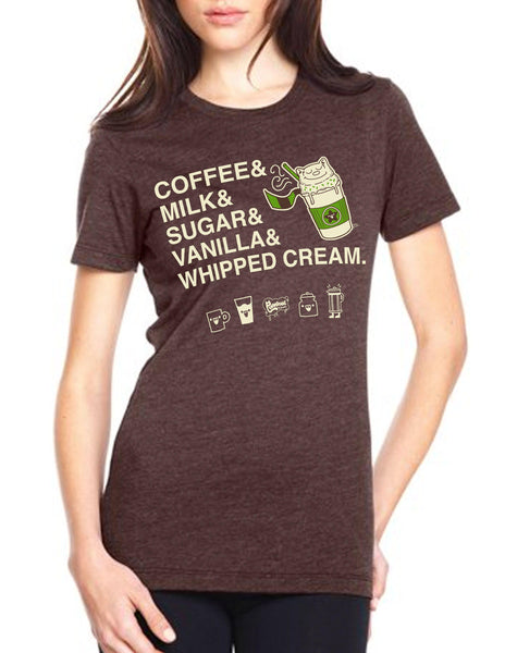 Purridge Frappe Women's Tee - Furry Feline Creatives - Furry Feline Creatives