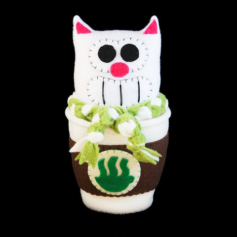 "9"" Purridge Matcha Catpuccino Plush - Purridge & Friends - Furry Feline Creatives"