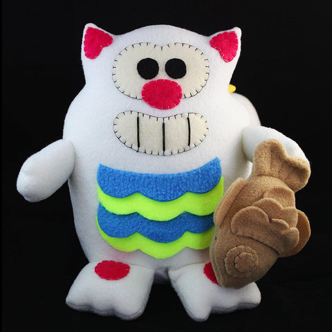 "Handmade Purridge Negora 12"" Plush - Purridge & Friends - Furry Feline Creatives"