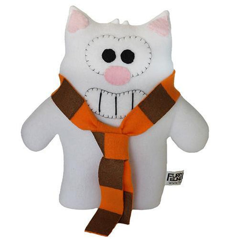 "Handmade Purridge the Cat Plush 12"" Classic - Purridge & Friends - Furry Feline Creatives"
