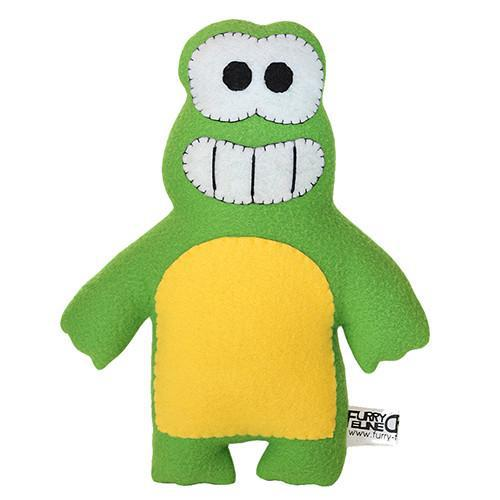 "Handmade Ribbit the Frog Plush 12"" Classic - Purridge & Friends - Furry Feline Creatives"