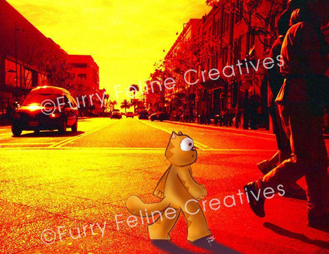8.5 x11 I'll Follow You Photo Print - Purridge & Friends - Furry Feline Creatives