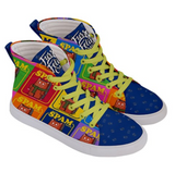 Purridge Spam Men's High Top Skate Sneakers - Purridge & Friends - Furry Feline Creatives