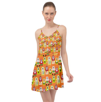 PF Fruity Delights Summer Time Chiffon Dress - Purridge & Friends - Furry Feline Creatives