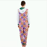Go Kray Kray Over Doughnuts Womens Hooded Jumpsuit - Purridge & Friends - Furry Feline Creatives