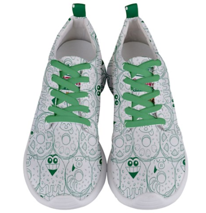 Go Kray Kray Over Doughnuts Womens Sneakers - Purridge & Friends - Furry Feline Creatives