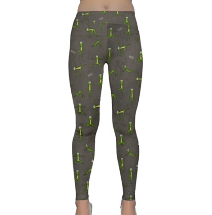 Ribbit the Frog Does Yoga Leggings - Purridge & Friends - Furry Feline Creatives