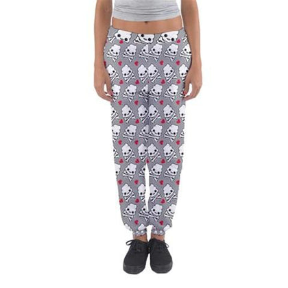 Skully Poop Women Sweatpants - I Heart Poop Culture - Furry Feline Creatives