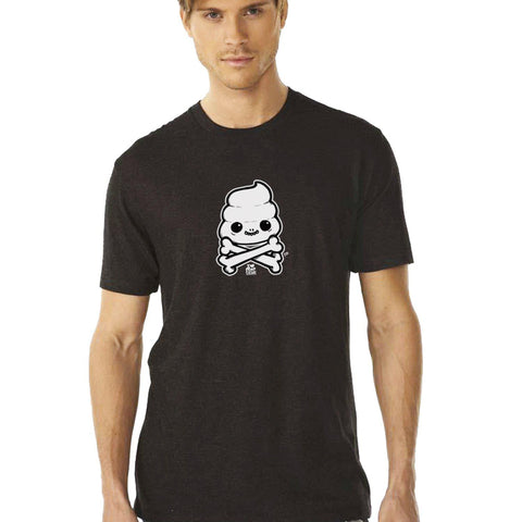 Skully Poop Crossbones Men's Tee - I Heart Poop Culture - Furry Feline Creatives
