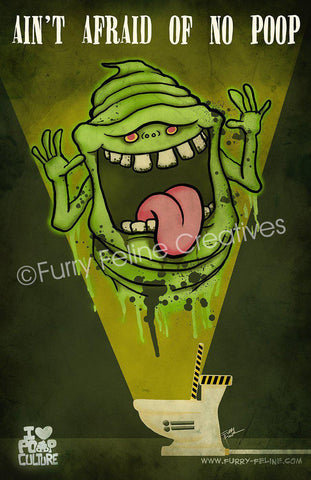 11x17 Trapped Slimy Poop Print - I Heart Poop Culture - Furry Feline Creatives