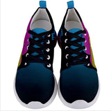The Runs CMYK Mens Sneakers - Furry Feline Creatives