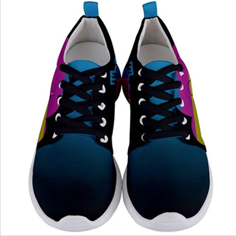 The Runs CMYK Mens Sneakers - I Heart Poop Culture - Furry Feline Creatives