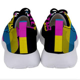 The Runs CMYK Womens Sneakers - I Heart Poop Culture - Furry Feline Creatives