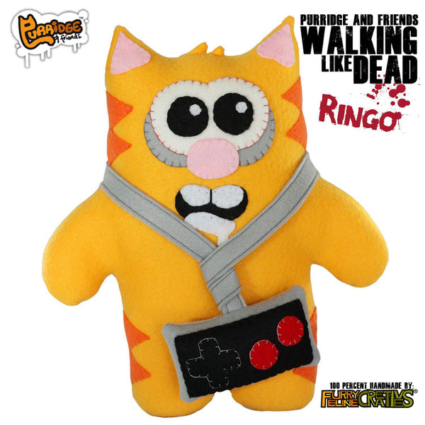 Handmade Walking Like Dead Ringo (Limited Edition) - Purridge & Friends - Furry Feline Creatives