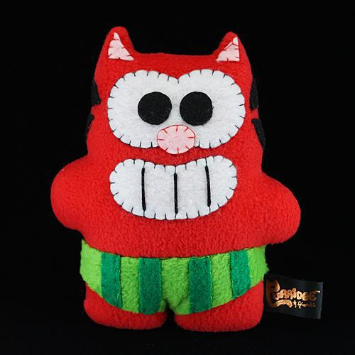 Handmade Watermelon Ringo Plush (Limited Edition) - Purridge & Friends - Furry Feline Creatives