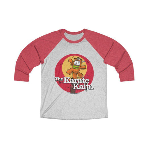 The Karate Kaiju Unisex Tri-Blend 3/4 Raglan Tee