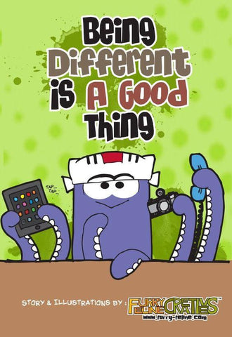 Being Different Is A Good Thing - Purridge & Friends - Furry Feline Creatives