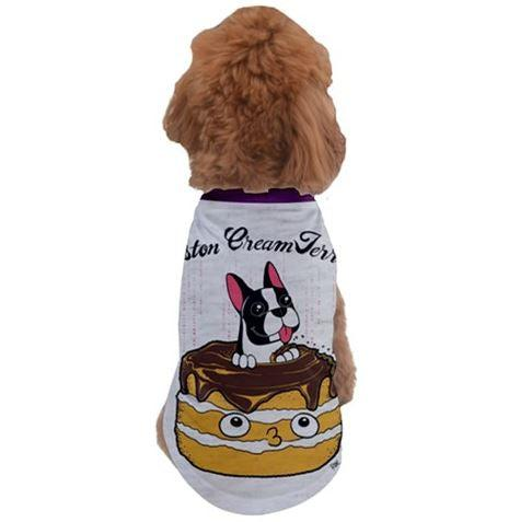 Boston Creme Terrier Pet Tee - Purridge & Friends - Furry Feline Creatives